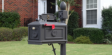 BBC-B Better Box Mailboxes cast aluminum contemporary black mailbox with mailbox numbers