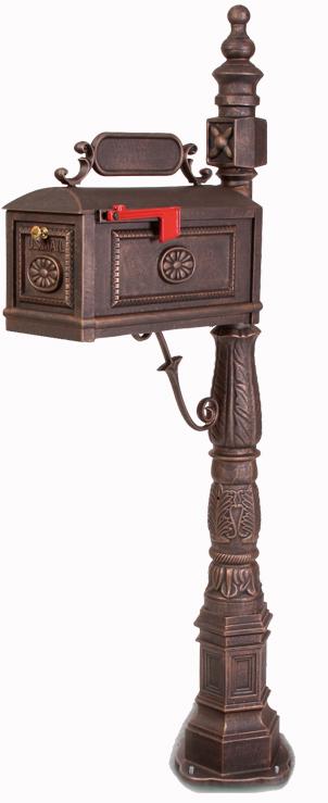 metal mailbox - mailbox with address plaque