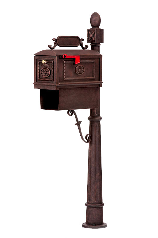 wrought iron mailbox