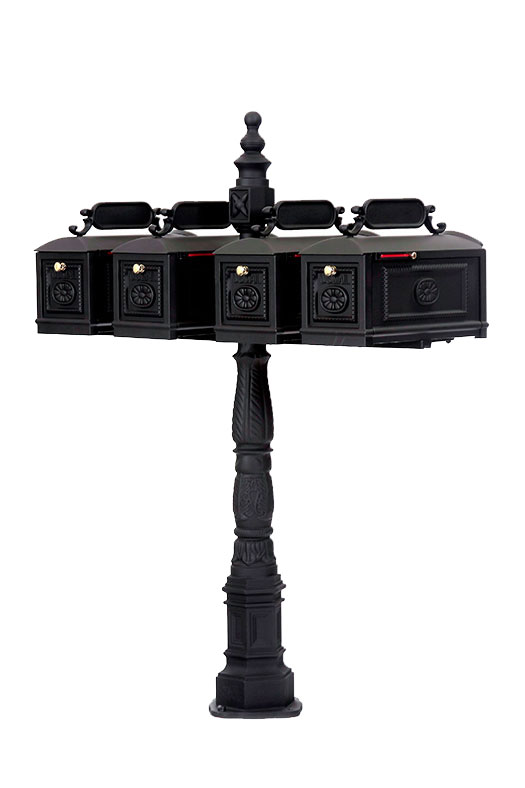 multi unit wrought iron mailbox