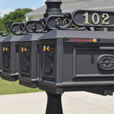 Create instant curb appeal for your community with our quadruple decorative mailbox with address plates. Our classic design is built to last a lifetime with cast aluminum construction and has a 100% satisfaction guarantee.Shop Now!