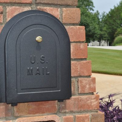 Better Box Mailboxes sells the highest quality cast aluminum brick mailbox replacement doors available. Aluminum construction and stainless steel hardware means your new mailbox door will never rust or rot, and a 5-year UV electrostatic powder coated finish will give you lasting beauty.Shop Now!